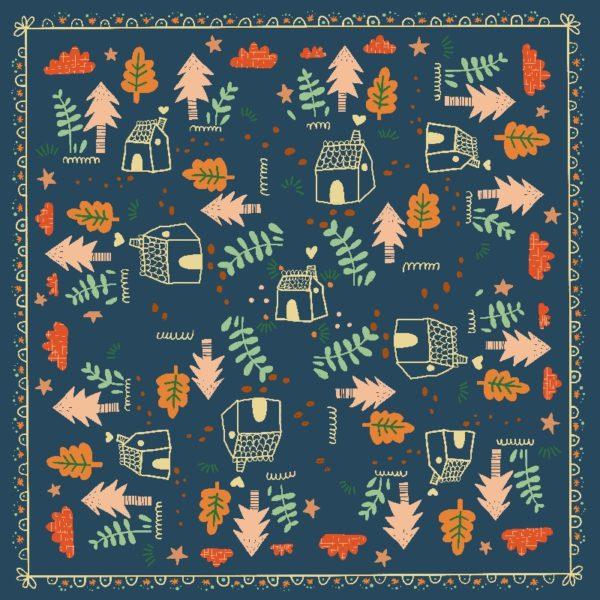 foulard emilie plat