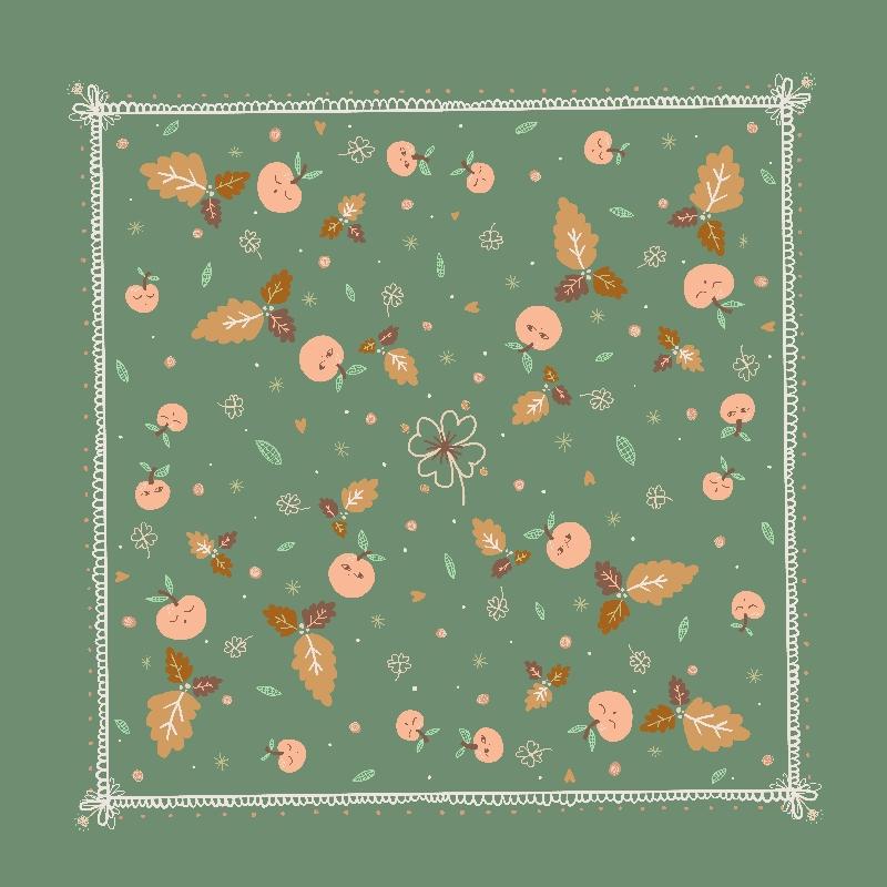 foulard charlotte plat