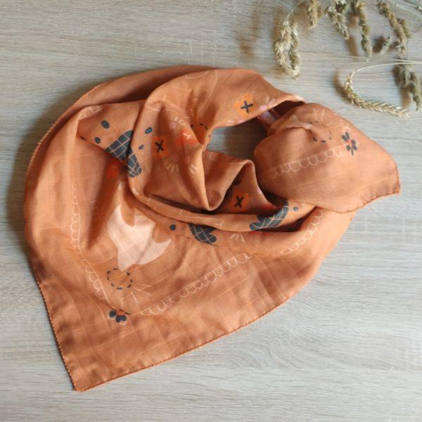 foulard paloma face