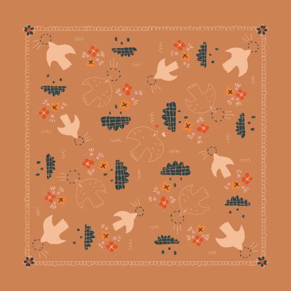 foulard paloma plat